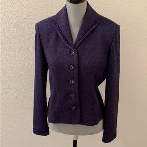 St. John Couture by Marie Gray purple blazer 8 Med